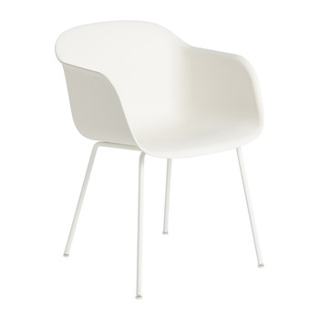 Fiber Armchair - Tube Base - White