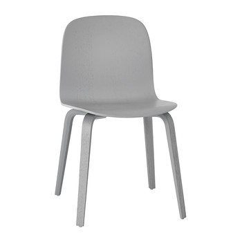 Visu Chair - Wood Base - Grey