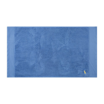 Polo Player Bath Mat - Blue