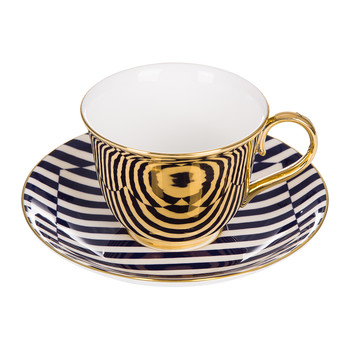 Patternity Gold Teacup & Saucer