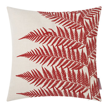 Lady Fern Cushion - 45x45cm - Natural/Flamme