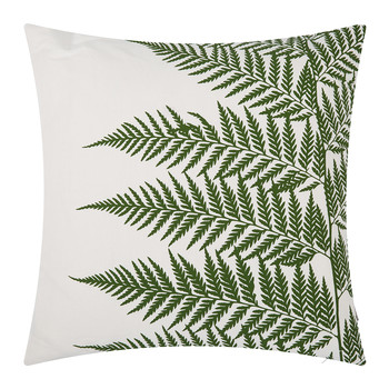 Lady Fern Pillow - 45x45cm - White/Olive