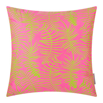 Feather Fern Cushion - 45x45cm - Neon/Chartreuse