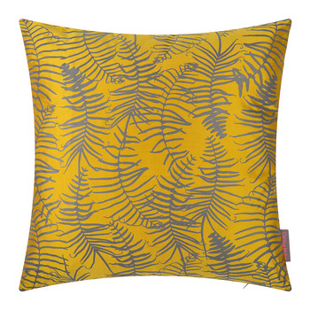 Feather Fern Cushion - 45x45cm - Turmeric/Storm