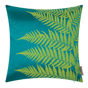 Lady Fern Pillow - 45x45cm - Kingfisher/Moss