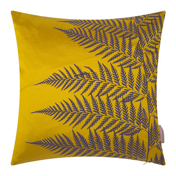 Lady Fern Cushion - 45x45cm - Turmeric/Grape