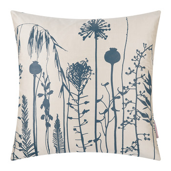 Seed Heads Cushion - 45x45cm - Putty/Midnight