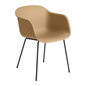 Fiber Armchair - Tube Base - Ochre