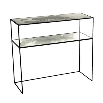 Iridescent Glass Console Table