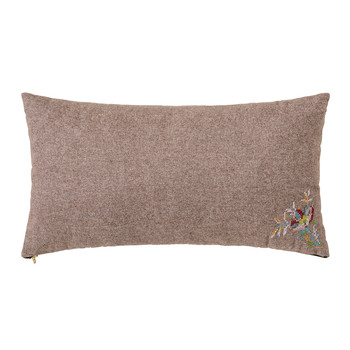 Brown Wool Pillow - 60x30cm