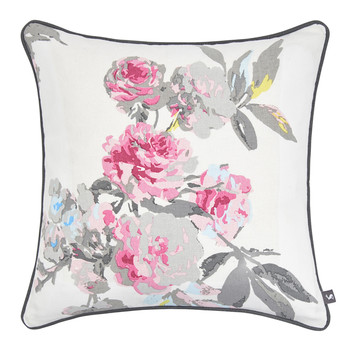 Bramhall Cushion - 40x40cm - Bright White Floral