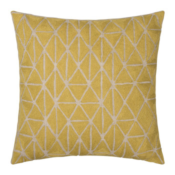 Berber Cushion - 50x50cm - Chartreuse & Natural