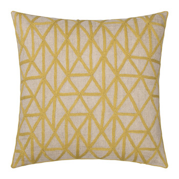 Berber Cushion - Chartreuse & Natural