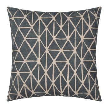 Berber Cushion - Slate & Natural