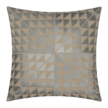 Geocentric Cushion - 50x50cm - Ash Grey & Natural
