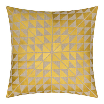 Geocentric Cushion - Gold & Natural