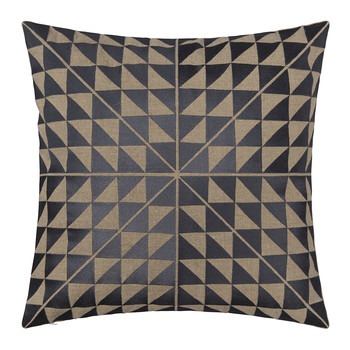 Geocentric Cushion - Slate & Natural