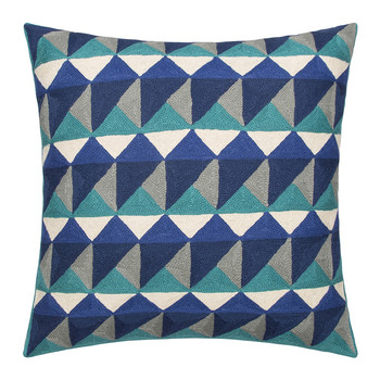Escher Cushion - 50x50cm - Emerald & Navy
