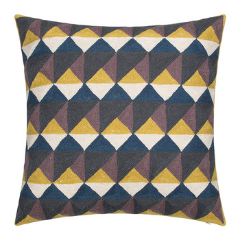Escher Cushion - 50x50cm - Fig & Chartreuse
