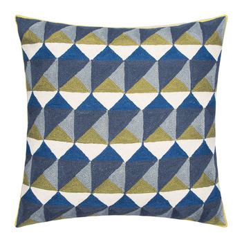 Escher Cushion - 50x50cm - Slate & Olive