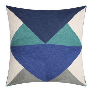 LeWitt Cushion - 50x50cm - Emerald & Navy