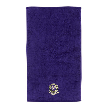 Embroidered Guest Towel - Purple
