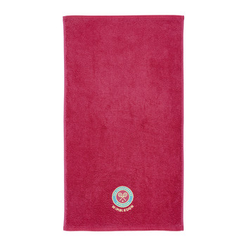 Embroidered Guest Towel - Shocking Pink