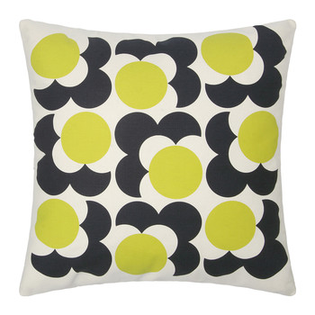 Bigspot Shadow Flower Cushion 59x59cm - Lemon