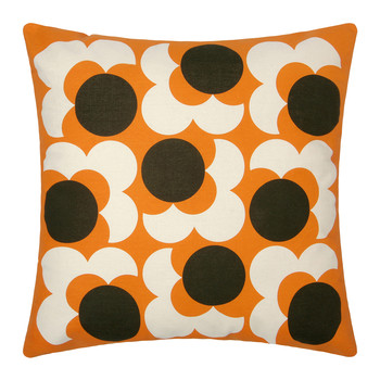 Bigspot Shadow Flower Pillow 59x59cm - Nutmeg