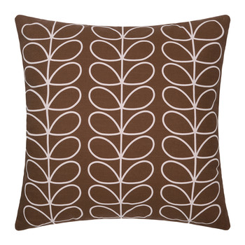 Large Linear Stem Cushion 50x50cm - Chocolate