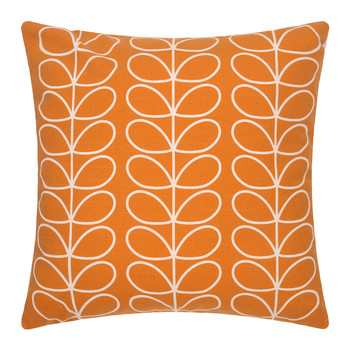 Large Linear Stem Cushion 50x50cm - Orange
