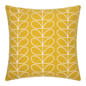 Large Linear Stem Cushion 50x50cm - Sunflower