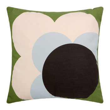 Single Bigspot Shadow Flower Pillow Grass Green
