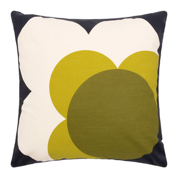Single Bigspot Shadow Flower Cushion Yellow