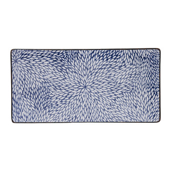 Kiku Blue Rectangular Plate - 23x11.5cm