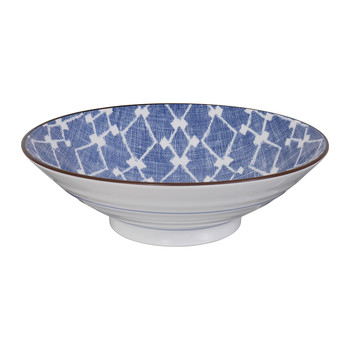 Shibori Blue Low Bowl
