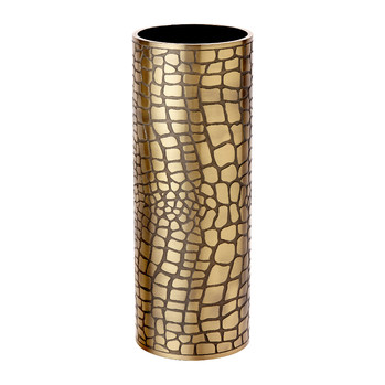 Crocodile Gold Vase