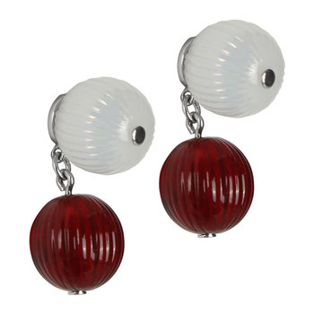 Vibrante Earrings - Clear/Red