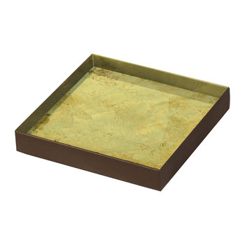 Gold Leaf Glass Tray - Small