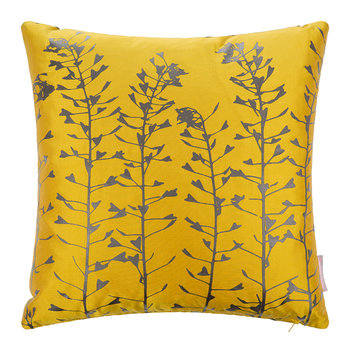 Heart Grasses Cushion - 45x45cm - Turmeric/Storm