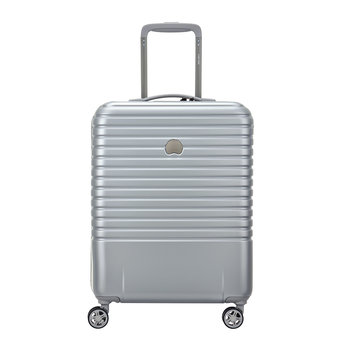 Caumartin 4 Wheel Slim Trolley Case - 55cm - Silver/Ice Blue