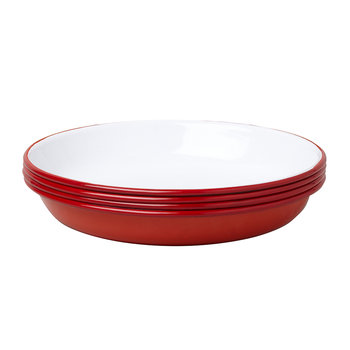 Deep Plate - Set of 4 - Pillarbox Red