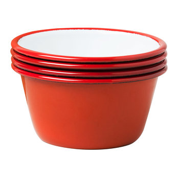 Set of 4 Bowls - Pillarbox Red