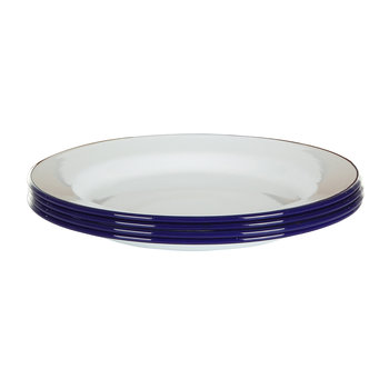 Plate Set - Set of 4 - Original Blue rim
