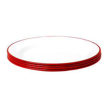Plate Set - Set of 4 - Pillarbox Red