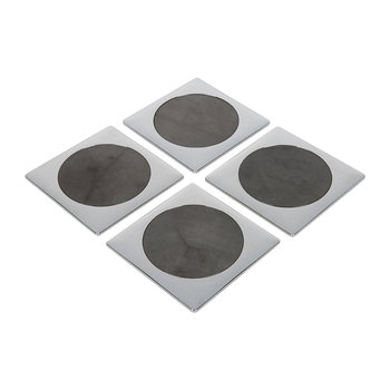 Circulo Coaster - Set of 4 - Gray/Silver