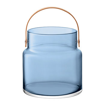 Utility Pot & Leather Handle - Sapphire Blue