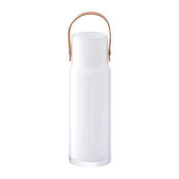 Utility Pot & Leather Handle - White