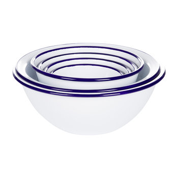 Prep Set - White with Blue Rim