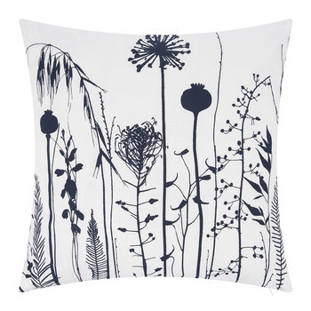 Seed Heads Cushion - 45x45cm - White/Ink